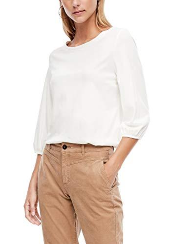 s.Oliver Damen Jerseyshirt mit 3/4-Ärmeln Cream 42