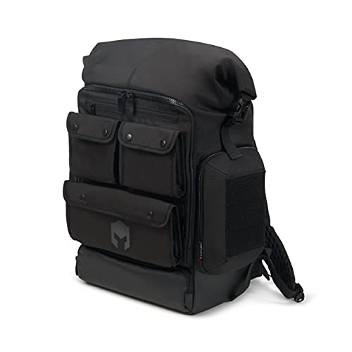 Caturix DECISIUN - Gaming-Rucksack für Laptops und Konsolen bis 15,6'', wasserabweisender Rucksack mit 42l Volumen, schwarz