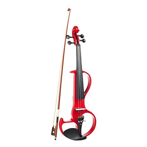 Shiwaki 4/4 elektrische Geige Violine, mit Koffer, Bow, Kolophonium, Kopfhörer usw, Geschenk für Anfänger Studenten Musikliebhaber