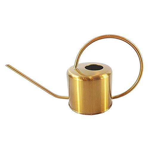 Cratone Gießkanne Gold 1300ml Edelstahl Metall Blumengießkanne Giesskanne Gartengießkanne Mit Langen Hals für Familie Büro Topfpflanzen Bonsai.1.3L