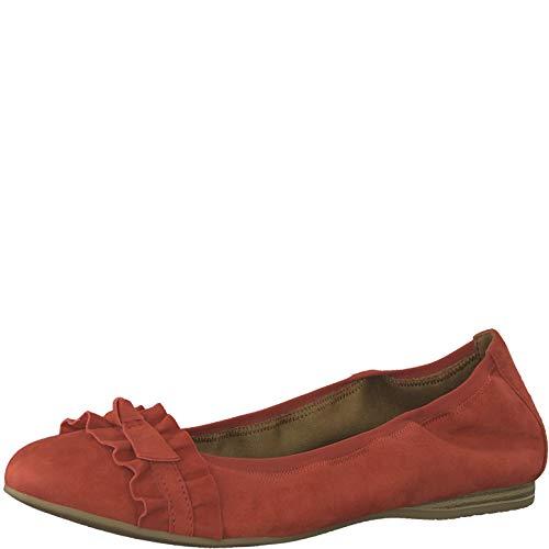 Tamaris 1-1-22108-22 Damen KlassischeBallerinas,Flats,Sommerschuh,klassisch elegant,Touch-IT,FIRE,39 EU