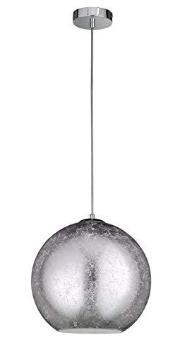 WOFI Pendelleuchte, Metall, E27, 16 W, Silber, 30 x 30 x 1500 cm