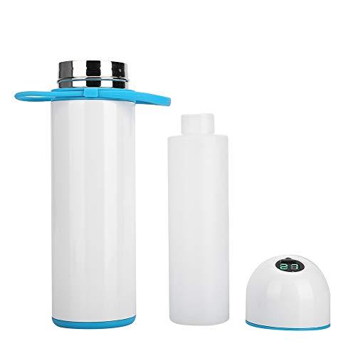 Refrigerador médico de Acero Inoxidable, Botella de Almacenamiento Entorno de Temperatura de Grado alimenticio Ambiente de insulina portátil Hecho de PVC (Blanco)
