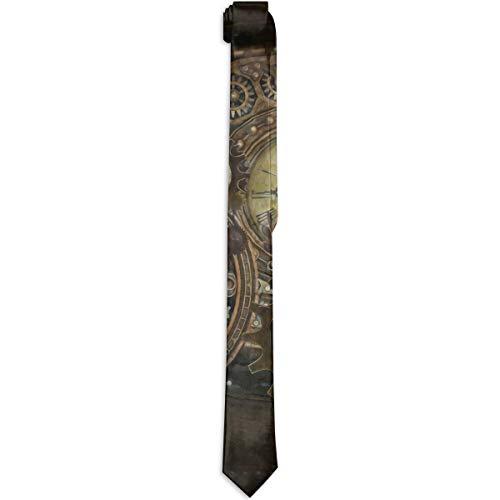 Paedto Corbatas para hombres Corbata clásica de moda para hombres Corbata de relojes Steampunk divertidos para bodas cenas fiestas y fiestas