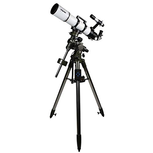GGPUS Brennweite 600 mm, Sucherspiegel 6 * 30, einziehbare Motorhaube, Teleskop Brechendes Teleskop Verstellbare tragbare Reiseteleskope für die Astronomie mit äquatorialer Halterung