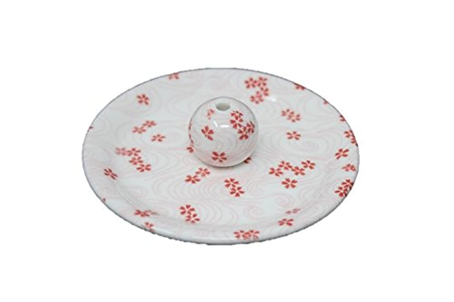 通行人苦難ロデオ9-34 桜渦 9cm香皿 お香立て お香たて 陶器 日本製 製造?直売品