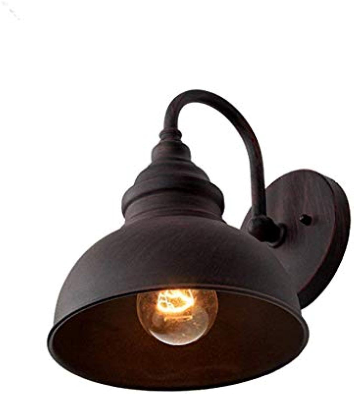 Wall Light Lamp,Retro Iron Wall Lamp, Antique Style, schwarz Iron Body, Voltage 110-240V[Energy Class A ++]-24  19Cm
