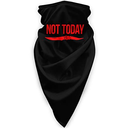Not Today Quote with Knife Multifunctional Sun Mask, Neck Gaiter,Breathable Seamless Tube Face Shield,Ski Mask,Stretchable Tubular Mask, Bandana, Balaclava, Great for Men & Women