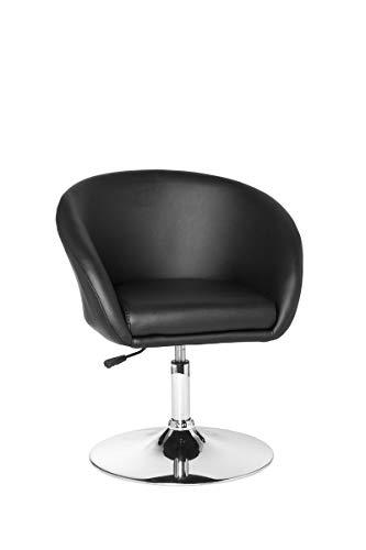 FineBuy Design Relaxsessel FB1085 Loungesessel Kunstleder Cocktailsessel | Sessel Drehbar | Esszimmerstuhl 120 kg | Clubsessel Leder-Optik | Drehstuhl Modern | Loungesessel Wartezimmerstuhl