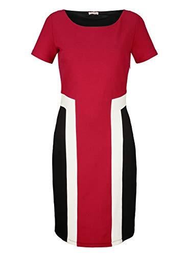 Alba Moda Damen Kleid Rot 38 Viskose