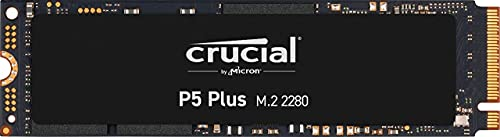 Crucial CT500P5PSSD8 SSD Interne P5 Plus 500 Go PCIe 4.0, 3D NAND, NVMe, M.2 jusqu'à 6600Mo/s