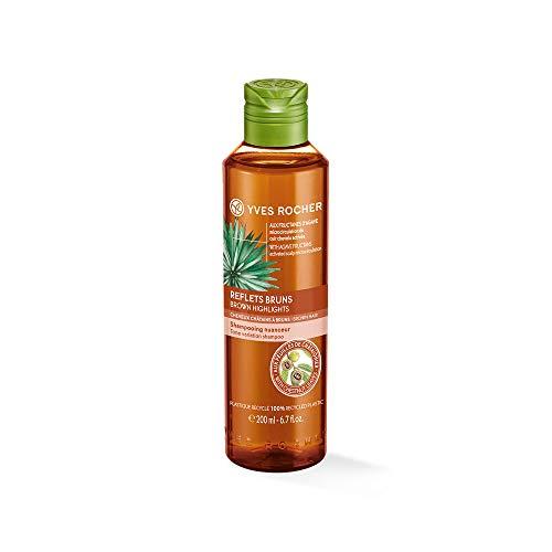 Yves Rocher PFLANZENPFLEGE HAARE Shampoo Braunreflexe, Haar-Shampoo für braunes Haar, mit Kastanienblatt-Extrakt, 1 x Flacon 200 ml