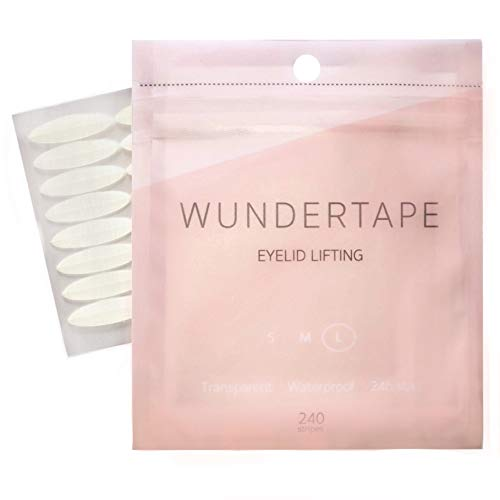 Schlupflider Stripes WUNDERTAPE® (240 Stück Größe L) Schlupflid-Tape Streifen zum Augenlid-Lifting ohne OP! (wasserfest, 24h Halt, double eyelid lifting tapes) Augenlid-Tape (240 L)