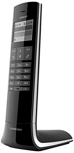 Logicom Luxia 150 Téléphone Sans fil Noir et Gris