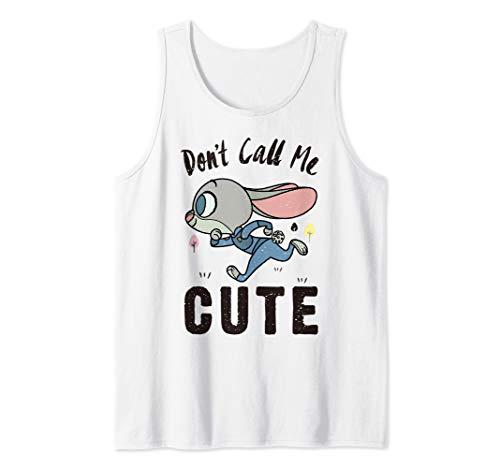 Disney Zootopia Judy Hopps Don't Call Me Cute Tank Top