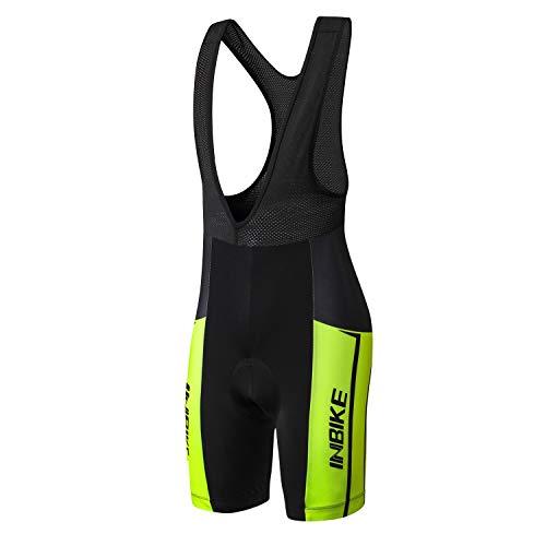 INBIKE Pantaloncini con Bretelle MTB Uomo Asciugatura Rapida Pantaloncini Estivi Traspirante per Ciclismo da Corsa All'aperto Ciclismo Biciclette Bici MTB