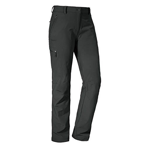 Schöffel Pants Ascona, leichte und komfortable Damen Hose für Wanderungen, vielseitige Outdoor Hose mit optimaler Passform und praktischen Taschen Damen, asphalt, 38
