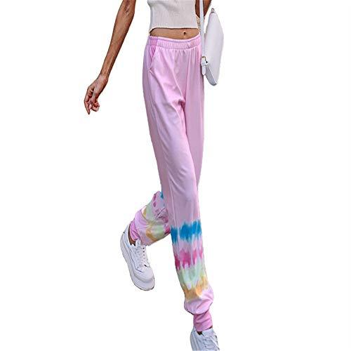 Hhckhxww Pantalones HaréN Casuales con Cintura EláStica Estampada para Mujer De OtoñO