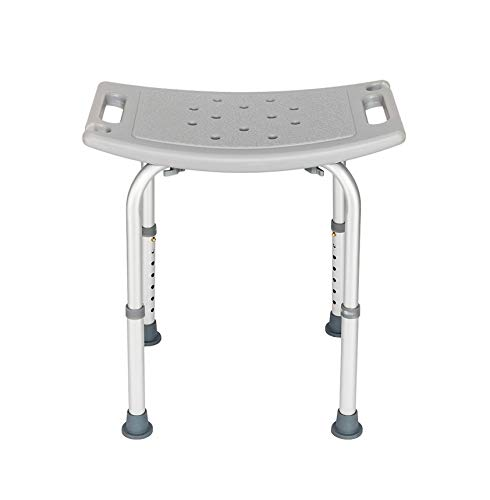 Aluminium Alloy Elderly Bath Chair Without Back of a Chair Gray, Bath Chair for Elderly, Handicap Tub Shower Seats for Adults