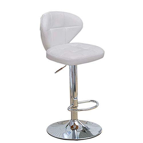 Luxe barkruk barkruk barkruk barkruk 360 ° deg bureaustoel barkruk draaistoel in hoogte verstelbaar softszit tot 130 kg voor keuken | Pub | Caf | (kleur: zwart | Maat: 60~80 cm) 54~64cm Wit.