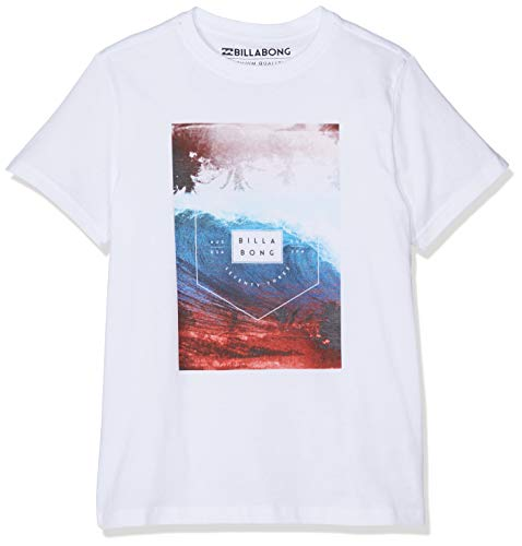 BILLABONG Section Tee SS Boy T-Shirt, Bianco (White 10), 8 Anni (Taglia Produttore: 8) Bambino