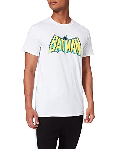 Batman Retro Logo White- FR : Small (Taille Fabricant : Small)