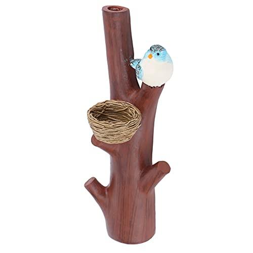 Perchero montado en la pared, perchero de gancho para llaves con rama de pájaro, perchero para muebles para el hogar pastoral para decoración de arte de pared del hogar del dormitorio