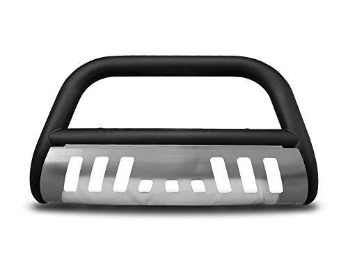 Armordillo USA 7145269 Classic Bull Bar Fits 2007-2014 Toyota Fj Cruiser - Matte Black W/Aluminum Skid Plate