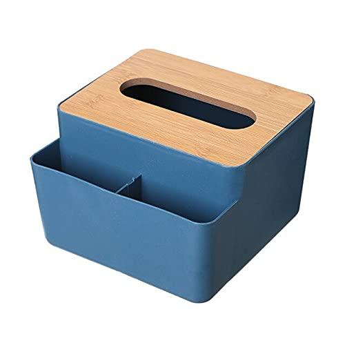 Caja de pañuelos Sello Toallitas de Bebé Cajas de Almacenamiento de Papel Dispensador Titular Hogar Plástico a Prueba de Polvo Caja de Pañuelos Para Hotel-Azul