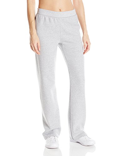 Hanes womens ComfortSoft EcoSmart Women's REGULAR Open Bottom Leg Sweatpants Light Steel Small