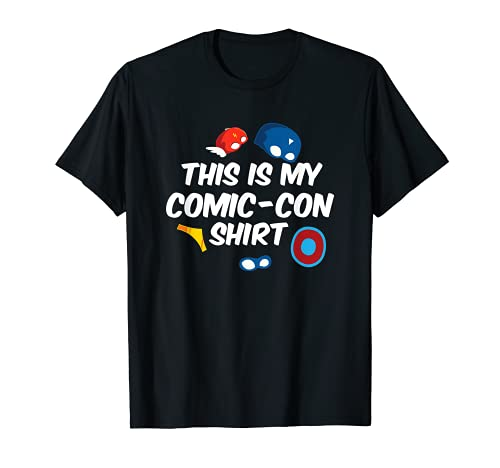 This Is My Comic-Con Shirt Funny Gift Comic Book Collector...