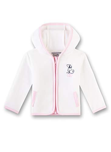 Sanetta Baby-Mädchen Jacket Sweatjacke, Beige (Ivory 1829), 80 (Herstellergröße: 080)