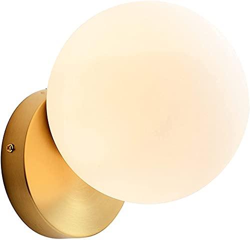 Lámpara De Pared De Cobre De Vidrio Redondo Regulable G9, Lámpara De Pared Minimalista De Moda, Aplique De Pared De Noche Para Dormitorio, Sala De Estar, Decoración De Iluminación De Pasillo