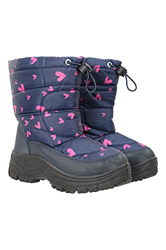 Mountain Warehouse Caribou Junior Printed Snow Boot Navy Kids Shoe Size 9 US