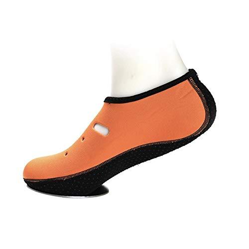 Zomerlicht Waterschoenen Surfen Slippers Effen kleur Aqua Strandschoenen Heren Dames Antislipzwemmende sneaker Seaside sokken, geel, M