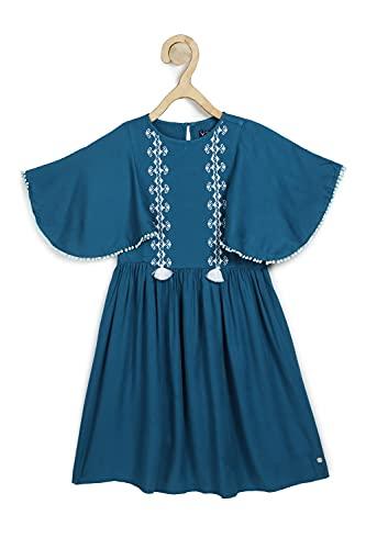 Allen Solly Junior Rayon A-Line Dress (AGDRERGHK80848_Navy_12)