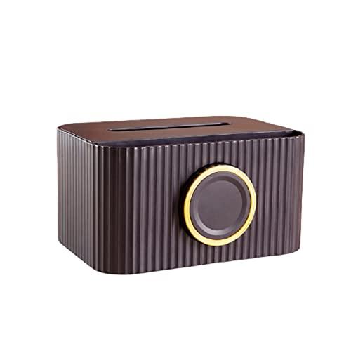 GEQIAN Caja de almacenamiento de toallitas húmedas para escritorio, caja de pañuelos con soporte para teléfono multifuncional, organizador de pañuelos para cocina, sala de estar, baño