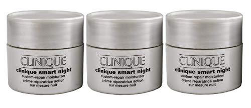 Clinique Smart Night Custom-Repair Moisturizer Dry Combination, 0.5 oz each (Pack of 3)