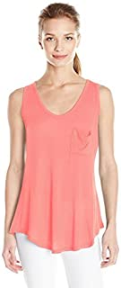 Paper + Tee Women's V Neck One Pocket Sleeveless
