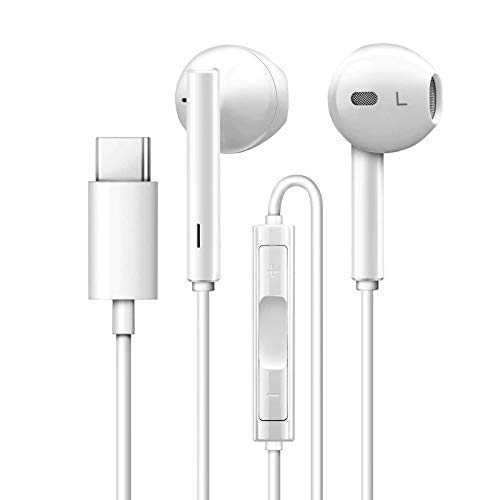 Anks Online Type-C Earphones Digital Stereo Ear Buds Compatible for Huawei P20 Pro/ P30 Pro, Huawei Mate 20 Pro/Mate 20/ Mate 10 Pro