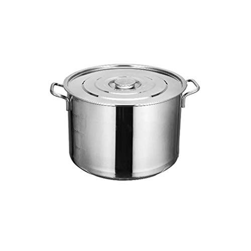 Catering Stainless Steel Pot Induction Cooking Pot,Large Capacity Pot, Aluminum Sheet Heat Conduction high Temperature Resistance,Stainless Steel -41.3cm/27L KaiKai
