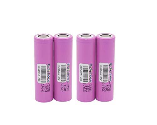 Genuine 35E High Drain Rechargeable Battery, 3500mAh 3.7V (Pack of 4PCS)