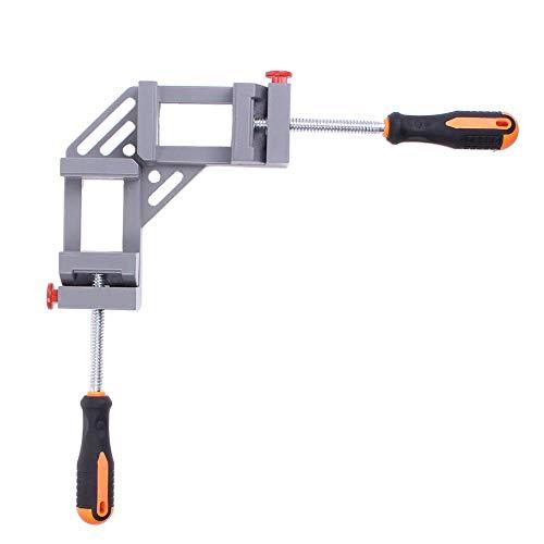 GENFALIN Manija doble de 90 grados de ángulo recto de la abrazadera de la carpintería de la esquina de la abrazadera de aleación de aluminio for trabajo pesado de hardware de calar Accesorios Max 65mm