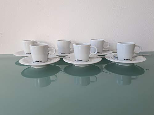 Nespresso 6er Set Espresso Tassen Untertassen Löffel Classic Kaffee Tee Kakao