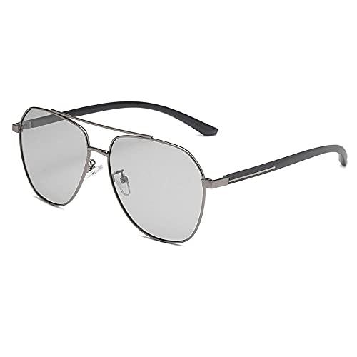 Gafas de sol de las mujeres de la función de la moda polarizadas anti-azul gafas de sol masculino