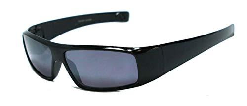 2.00 Schwarz Getönte Lesebrille Sonnenbrille Designer Stil Rundum-Design Männer, Frauen, Unisex UV-Schutz 2.0 Dioptrien