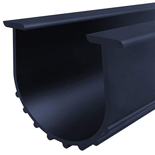 Garage Door Bottom Weather Stripping Kit Rubber Seal Strip Replacement, Weatherproofing Universal Sealing Professional Grade T Rubber,5/16' T Ends, 3 3/4' Width X 10 Feet Lenth (Black)
