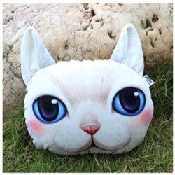 Stephen Cushion - 30 * 30cm headrest Cat Dog Shape Sofa Cushion Toy Doll Car Travel headrest Gift Birthday Wedding Home Chair Pillow Head Rest - by 1 PCS