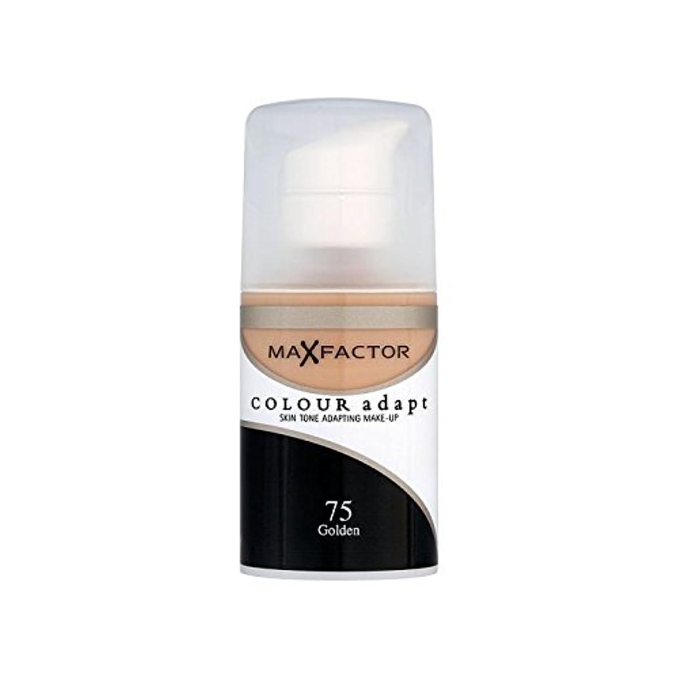 中に平手打ち美容師マックスファクターの色は、基礎黄金の75を適応させます x2 - Max Factor Colour Adapt Foundation Golden 75 (Pack of 2) [並行輸入品]