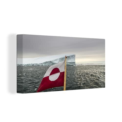 Leinwandbild - Die Flagge von Grönland - 160x80 cm